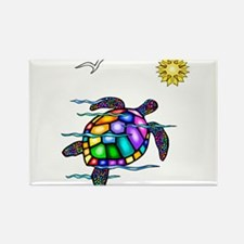 Sea Turtle #1 Rectangle Magnet (10 pack)