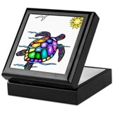 Turtle Square Keepsake Boxes