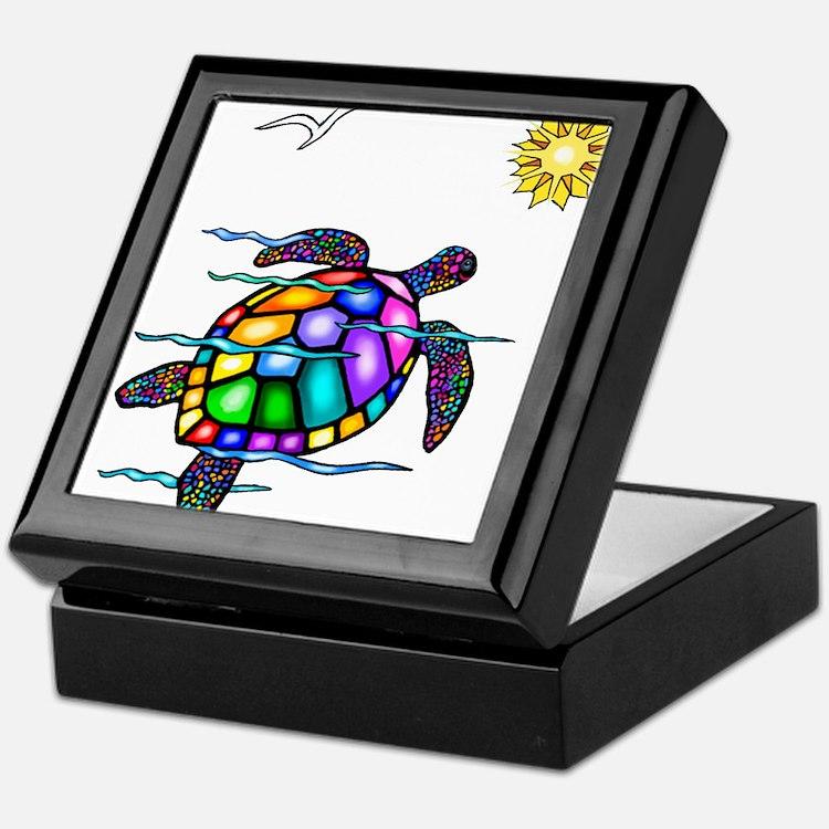 Sea Turtle #1 Keepsake Box