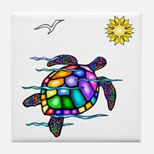 Sea Turtle #1 Tile Coaster