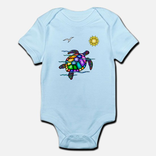 Sea Turtle #1 Infant Bodysuit