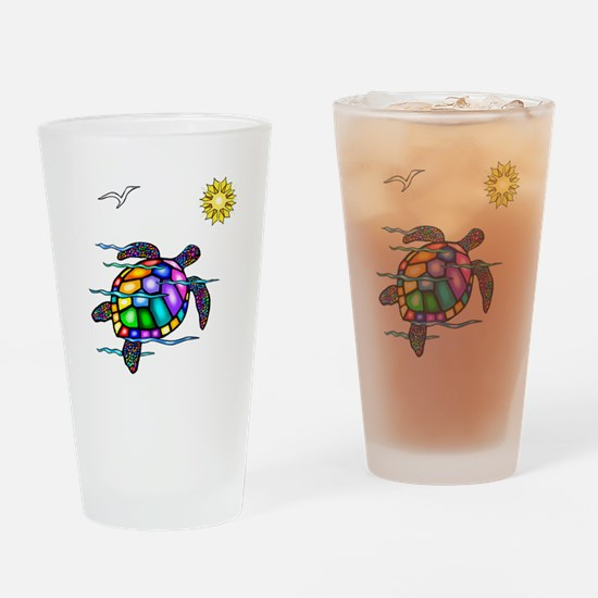 Sea Turtle #1 Drinking Glass