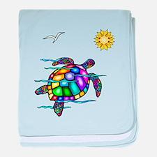 Sea Turtle #1 baby blanket