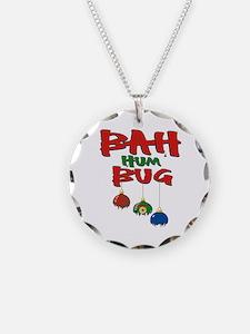 Bah Humbug Broken Christmas Ornaments Necklace