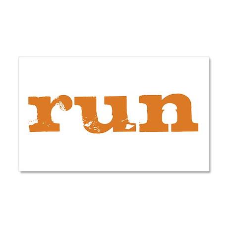 run - burnt orange Car Magnet 20 x 12