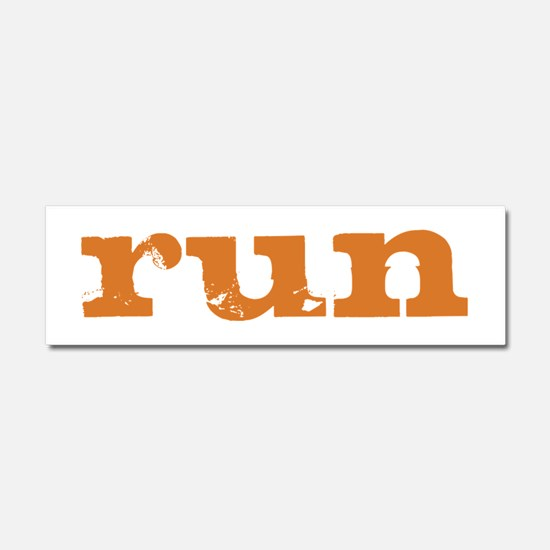 run - burnt orange Car Magnet 10 x 3