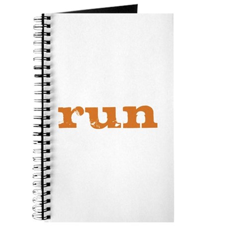 run - burnt orange Journal