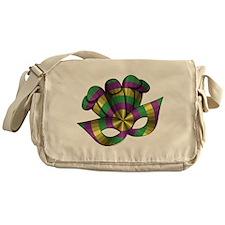 Mardi Gras Mask Messenger Bag