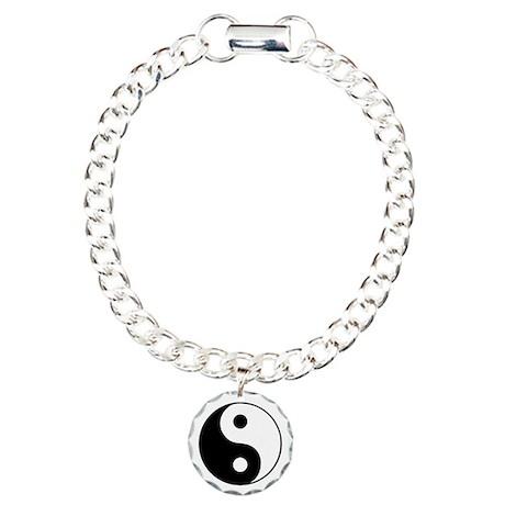 Ying Yang Charm Bracelet, One Charm