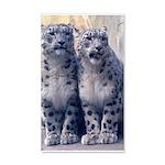 Twin Snow Leopard cubs 38.5 x 24.5 Wall Peel