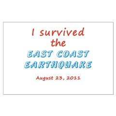 Survived East Coast Quake Posters