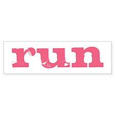 run - pink Bumper Sticker