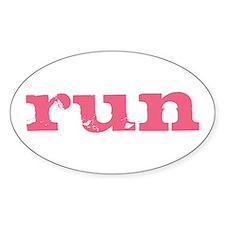 run - pink Decal