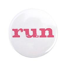 """run - pink 3.5"""" Button"""
