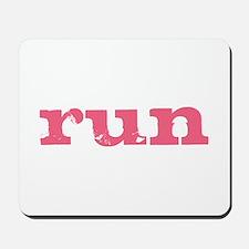 run - pink Mousepad