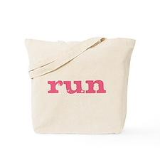 run - pink Tote Bag