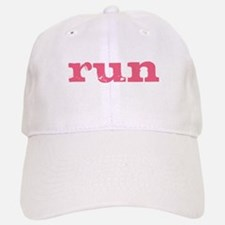 run - pink Baseball Baseball Cap