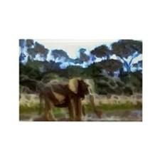 Elephant Painting 5 Rectangle Magnet