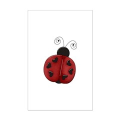 Cute Red Ladybug Posters