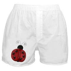 Cute Red Ladybug Boxer Shorts