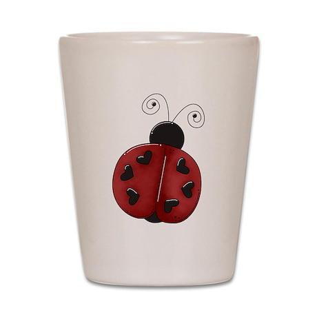 Cute Red Ladybug Shot Glass