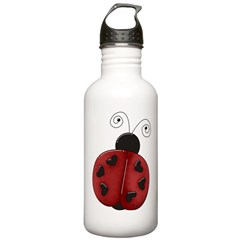 Cute Red Ladybug Water Bottle