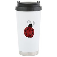 Cute Red Ladybug Travel Mug