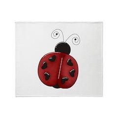 Cute Red Ladybug Throw Blanket