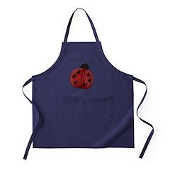 Cute Red Ladybug Apron (dark)