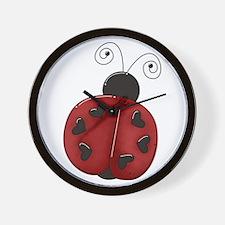 Cute Red Ladybug Wall Clock