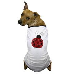 Cute Red Ladybug Dog T-Shirt