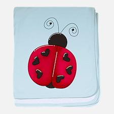 Cute Red Ladybug baby blanket
