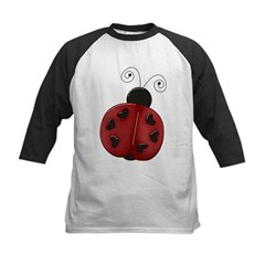 Cute Red Ladybug Kids Baseball Jersey