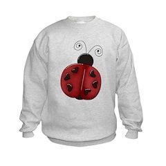 Cute Red Ladybug Sweatshirt