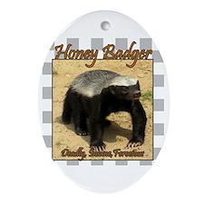 Honey Badger Ornament (Oval)