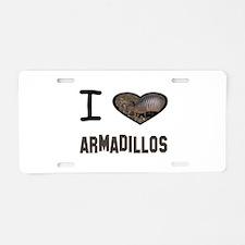Cute Armadillo Aluminum License Plate