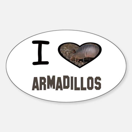 Funny Armadillo Sticker (Oval)