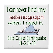 East Coast Quake Seismograph Tile Coaster