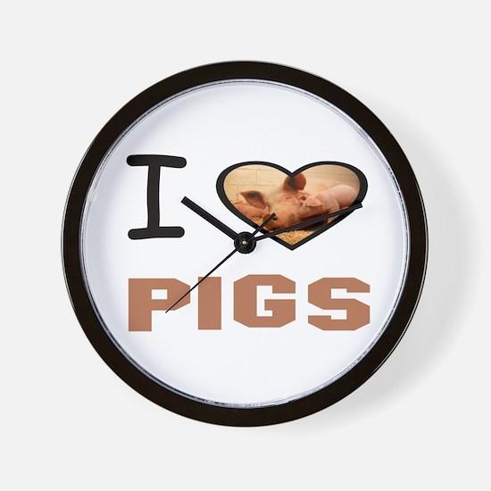 Cool Pig pen Wall Clock