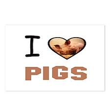 Pig pen Postcards (Package of 8)