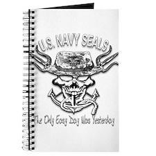 USN Navy Seal Skull Black and White Journal