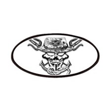 USN Navy Seal Skull Black and White Patches