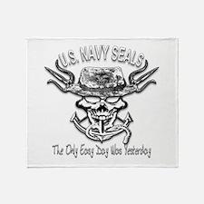 USN Navy Seal Skull Black and White Stadium Blank