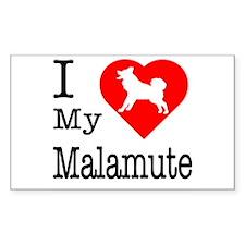 I Love My Malamute Decal