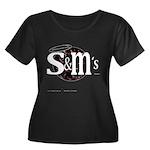 S&MJ's Women's Plus Size Scoop Neck Dark T-Shirt