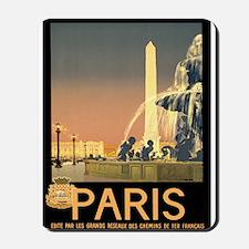 Vintage Paris France Travel Mousepad