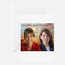 Palin Bachmann Greeting Card