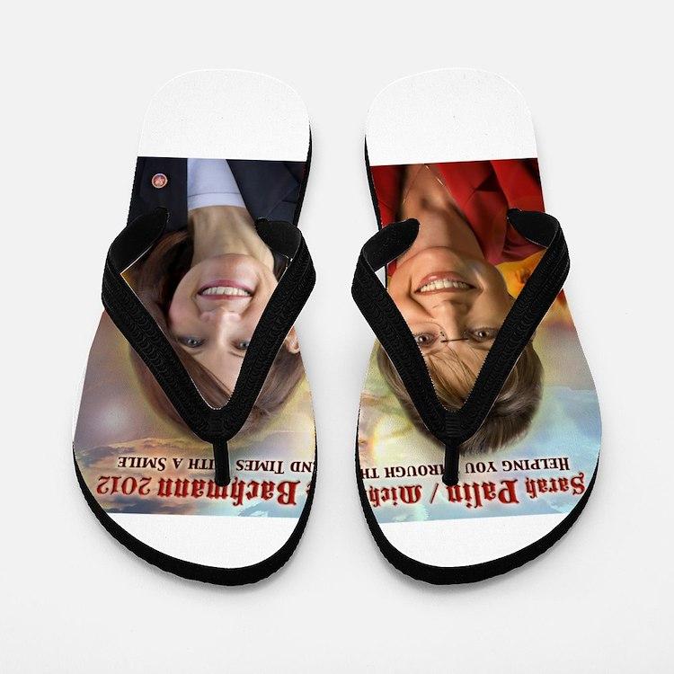 Palin Bachmann Flip Flops