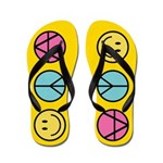 Happiness Peace Freedom Flip Flops