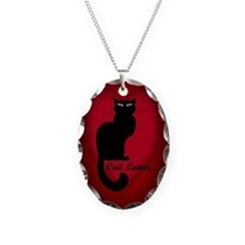 Cat Lover Heart Charm Cat Necklace